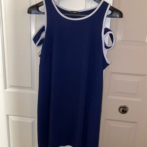 NWOT navy blue and white summer dress